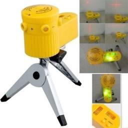 Nível Laser Nivelador Giratório Tripé Abs