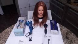 01- Modeladora de Cachos - 01 -Maq. de Tranças  e 01- Cabeça de Boneca. R$350reais