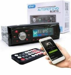 Novo Som automotivo com Bluetooth e controle 190,00 (220,00 com instalação inclusa)