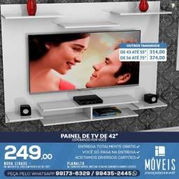 """Super promoção de painéis de tv de até 42 P """" por R$ 249,00 / 100% MDF"""