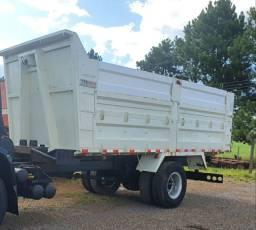 Caçamba agricola caminhão 3/4 tampas removiveis.