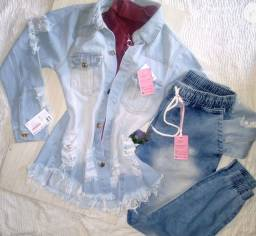 Jaqueta  Jeans longa (Park ) Nova