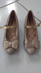 Sapato infantil feminino Dourado