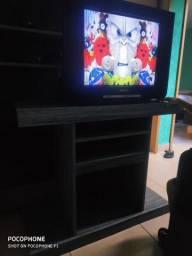 Televisão Philips 21 + Rack ambos conservado!