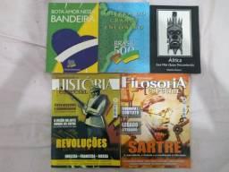 Três Livros de História e duas revista
