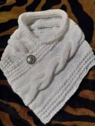 Gola de tricô à mão
