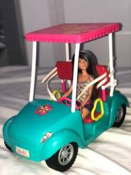 Boneca barbie, carro com boneca