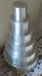 Kit de 5 formas redondas 10cm de altura