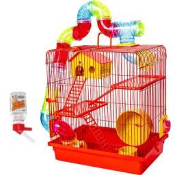 Gaiola Vermelha para Hamster Nova