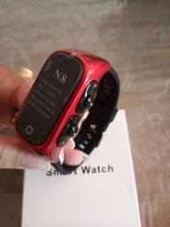Smartwatch N8 com fone de ouvido bluetooth integrado
