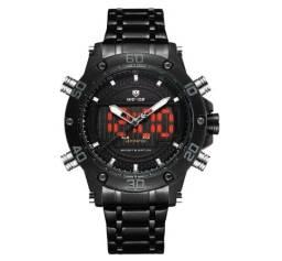 Relógio Masculino Weide Preto Original
