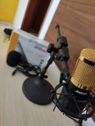 Vendo Microfone condensador BM-800 + acessórios inclusos