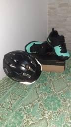 Kit sapatilha e capacete para ciclismo SPECIALIZED, R$ 170,00