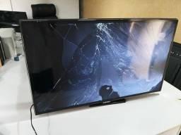 Smart Tv Samsung 40 Led 3D Full HD UN40ES6500GXZD Tela Quebrada