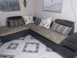 Sofá gigante de camurça