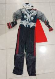 Fantasia infantil Thor com máscara de LED