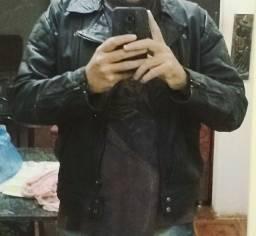Jaqueta de couro legítima
