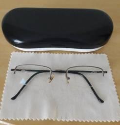 Armação Óculos de Grau Fino Preto Unissex