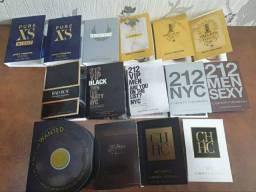Amostras originais de perfumes importados