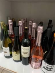 Vinhos tintos/brancos/rosé e espumantes diversos a partir de R$ 20,00 unidade.