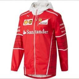 Jaqueta Santander Ferrari impermeável com Toca e Bolso