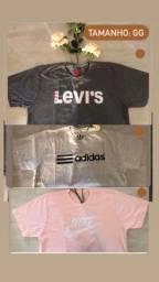 Camisetas / tamanho em cada foto