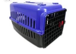 Lote de 3 Caixas de Transporte Pet, cor azul/preta, Número 2
