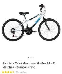 Bicicleta Caloi Max Juvenil Aro 24, 21 marchas super conservada, toda original