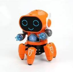 Boneco Robô Aranha Musical Com Luzes Robot Pioneer Giratório