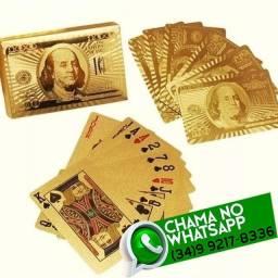 Baralho Dourado Prova D'Água 54 cartas * Fazemos Entregas