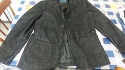 Vendo casaco de djens grafite usado otimo estado