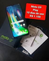 Moto g9 10 dias de uso novinho e A30s