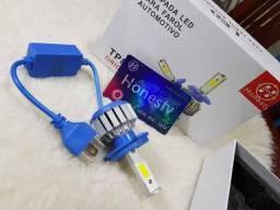 Lampada LED Farol H4 4100LM de potencia 36W com Cooler (Uma Unidade/Moto)