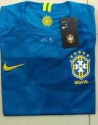 Camisa do Brasil - Visitante Azul - NOVA