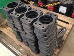Peças ou placas em aço feita com corte de Plasma CNC