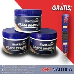 Kit com 3 potes de Graxa Branca Nautispecial (350g cada) - Grátis 1 Chaveiro Exclusivo