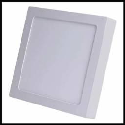 Título do anúncio: Plafon Luminária Led Quadrado Sobrepor 22x22 18w - Mega Infotech