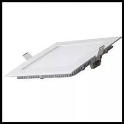 Título do anúncio: Plafon Luminária Led Quadrado Embutir 22x22 18W - Mega Infotech