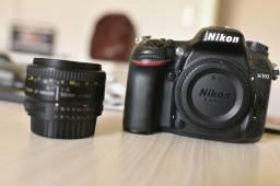 Câmera profissional nikon d7100 + lente 50mm 1.8 + bateria extra