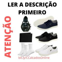 Kit 3 Sapatenis+1 Carteira+1 Relógio+3 Pares De Meia (bônus)