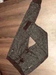 Calças de moeletom Modelo Peluciado tecido de linio italiano
