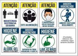 Kit adesivos contra corona virus, pandemia, covid 19