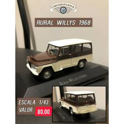 Miniatura rural - Willys 1968 escala 1/43  em metal