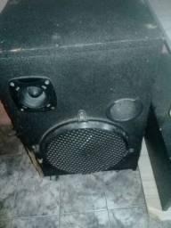 Som com amplificador e dvd