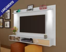 """Painel Platinum para TVs até 47"""" com LED's e Espelhos - Suporte de TV incluso"""