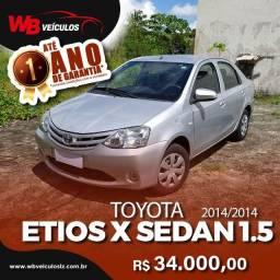 Toyota Etios X Sedan 1.5 Flex 16v - Todas as revisões feitas na Autorizada