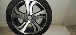 Roda do sedan City Honda modelo novo 2015