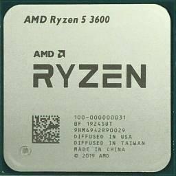 Processador Ryzen / Modelo r5 3600 para placas am4 com 3.6GHz(4.2GHz Max Turbo)- NOVO