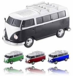 Caixinha Som Portátil (Recarregável) Carro Kombi Micro Sd Usb Fm e Bluetooth