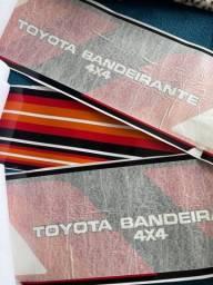 Adesivo externo Toyota Bandeirantes 4x4
